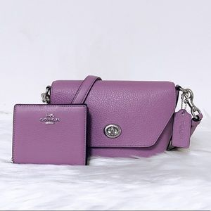 New💃Coach Karlee Crossbody and Snap Wallet Set